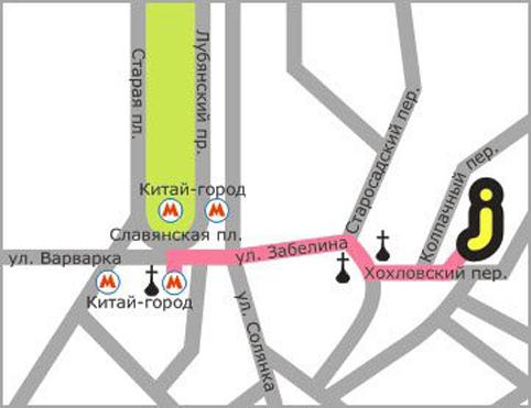 Схема проезда станция метро китай-город (калужско-рижская или таганско-краснопресненская линии), выход в город на